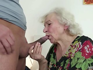 GERMAN ORDERLY CAUGHT GRANNIE JERK Increased by HELP WITH Dollop