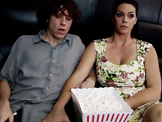 Horny milf touch shy stepson's dig up in cinema