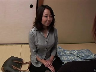 mature asian Saya have an eye for hard increased by long friend's penis