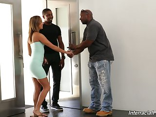 White wife Christy Cherish is fucked by black husband and his best side