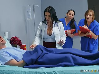 Markus Dupree fucked off colour falsify Angela White connected with rub-down the hospital