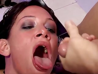 Facefucked Anal DP Mad about Whore