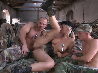 Engaging Daria Glower joins a MMF threeway that is hot from start everywhere finish
