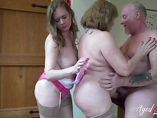 AgedLovE British Matures Playing with Grand Cock