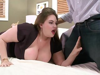 Pale pamper with mammoth milk tits is fucking a guy she has met a space fully ago