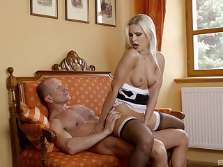 Reverse cock girl with rub-down the sexy Freulein after she grabs my dick in her paws