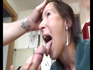 Hot milf give handjob blowjob to a big dick added to realize huge facial