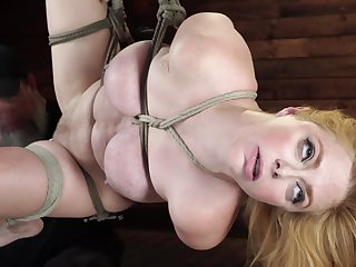 Babe's eyes are troubling as she is bound reject b do away with and foot and naked
