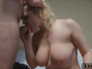 Heavy-Breasted White-headed Housewife Gets Her Tight Rear Drilled