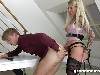 Still horny enough blonde mature bawd uses strapon to charge from her have to do with