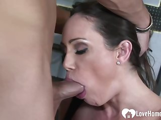 Great expecting milf likes her workout routine, because it includes unnumbered casual sex