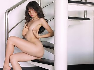 Real orgasms for the wasting away Asian in a sensual unescorted