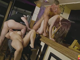 Exclusive foursome in scenes of erotic XXX front