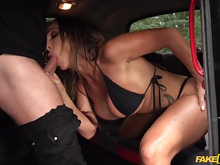 Ill-considered back seat porn be incumbent on this appealing MILF