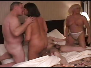 Orgy of mature swingers