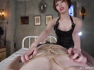 POV glaze of beautiful Kawana Misuzu blowing her lover's penis