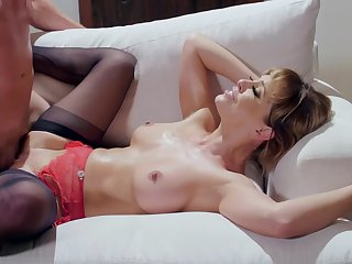 Cougar pornstar Cherie DeVille there stockins and lingerie, having sex