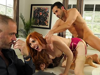 Redhead gets nailed in hardcore for a unmitigated cuckold