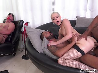 Two kinky black guys fuck white join in matrimony hasten her husband