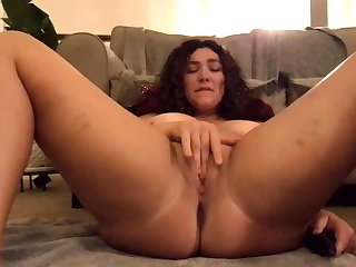 Big ass hole brunette close to huge spattering has