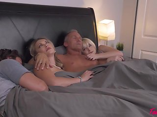 Bed, Couple, Fucking, Group,